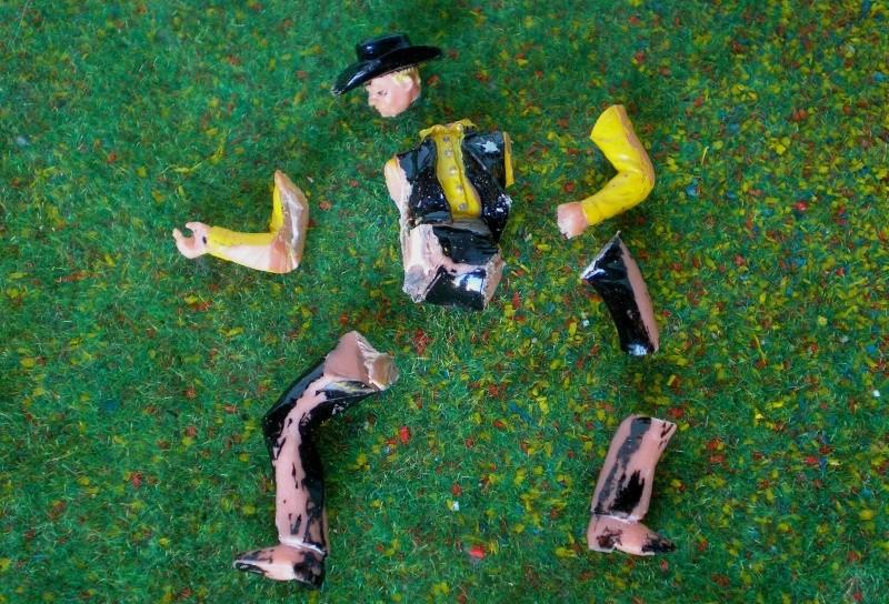 Bemalungen, Umbauten, Modellierungen - neue Cowboys für meine Dioramen 170e2b10