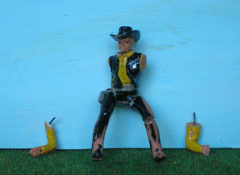 Bemalungen, Umbauten, Modellierungen - neue Cowboys für meine Dioramen 170e2c10