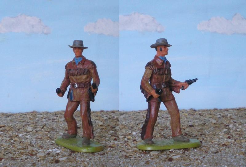 Bemalungen, Umbauten, Modellierungen - neue Cowboys für meine Dioramen 180b1_11