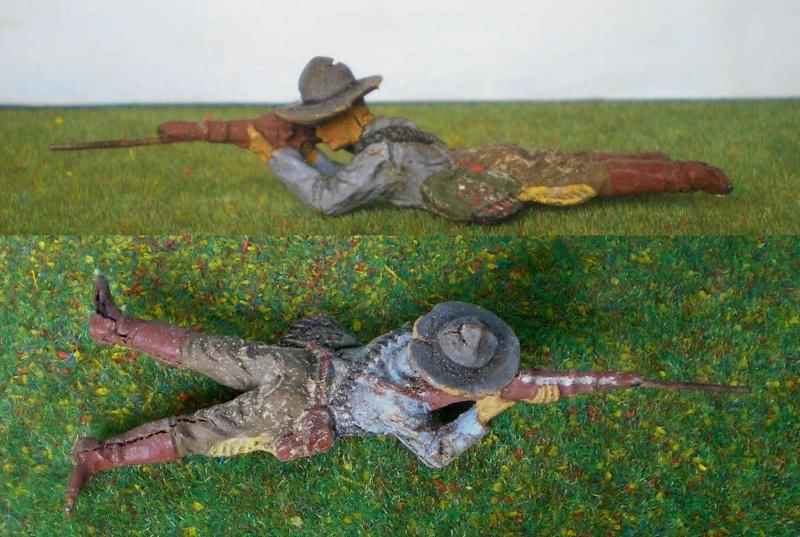 Bemalungen, Umbauten, Modellierungen - neue Cowboys für meine Dioramen 180k1_10