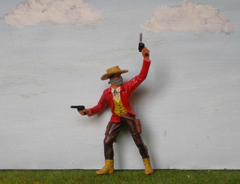 Bemalungen, Umbauten, Modellierungen - neue Cowboys für meine Dioramen 180m3a10