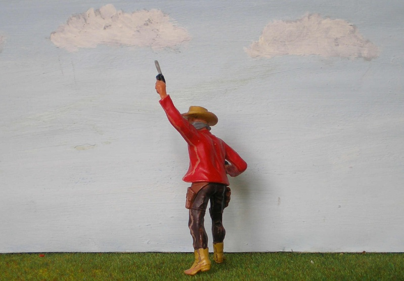 Bemalungen, Umbauten, Modellierungen - neue Cowboys für meine Dioramen 180m3b10