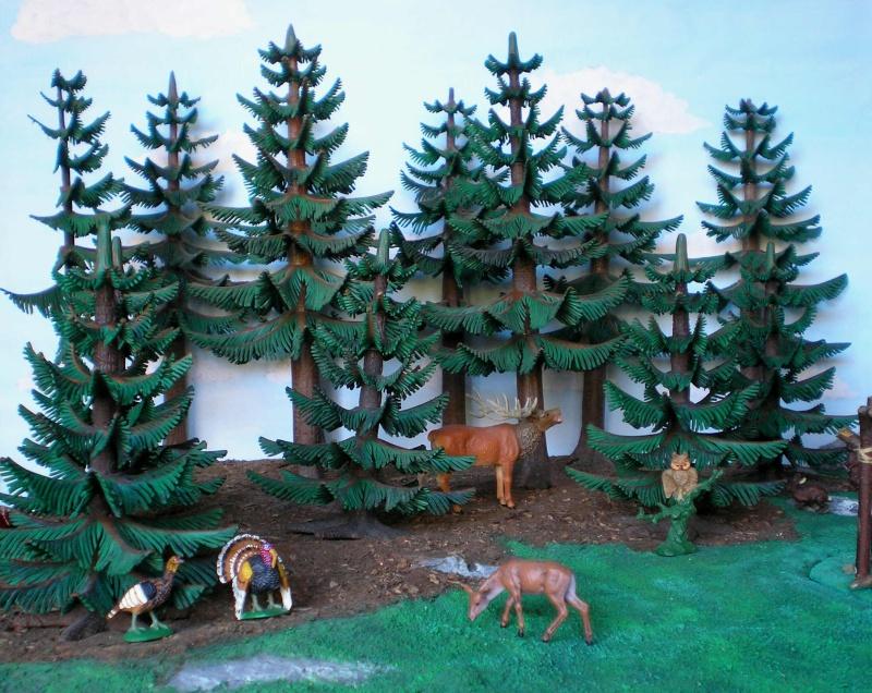 Gestaltung eines Dioramas mit den Tannen von Playmobil Tannen15