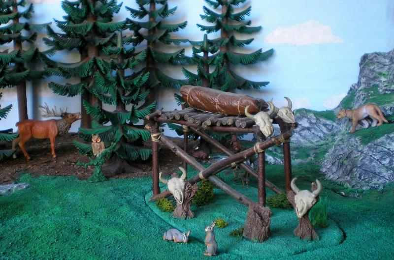 Gestaltung eines Dioramas mit den Tannen von Playmobil Tannen17
