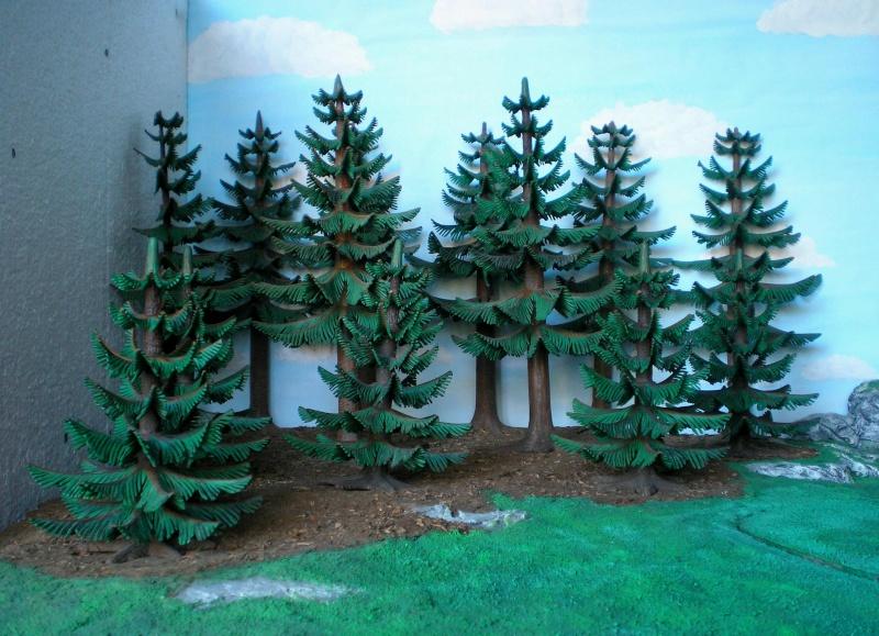 Gestaltung eines Dioramas mit den Tannen von Playmobil Tannen18