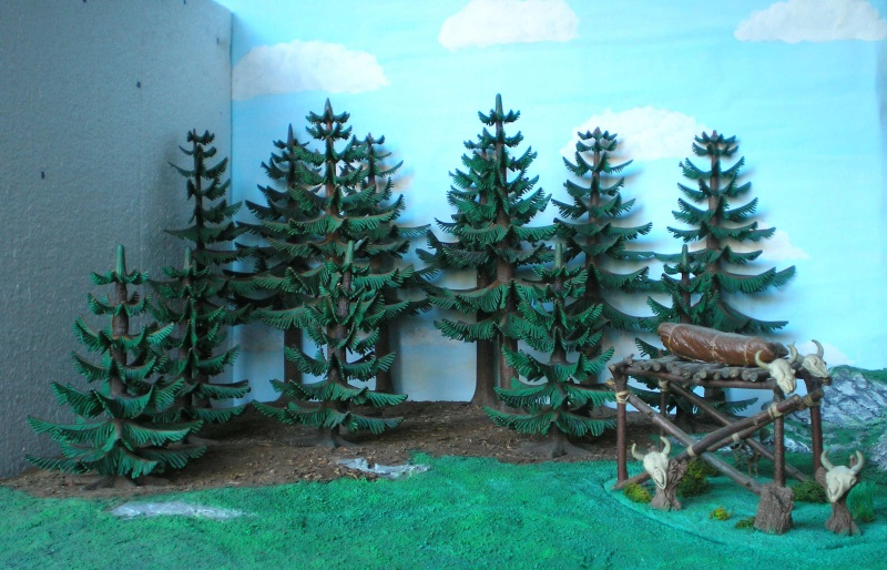 Gestaltung eines Dioramas mit den Tannen von Playmobil Tannen19
