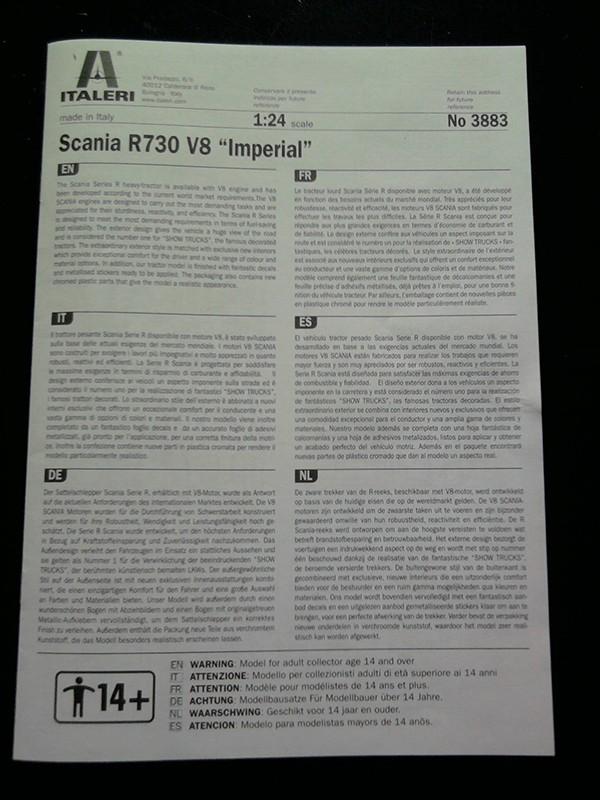 """Italeri Scania R730 V8 Topline """"Imperial"""" 1.24 000_10"""