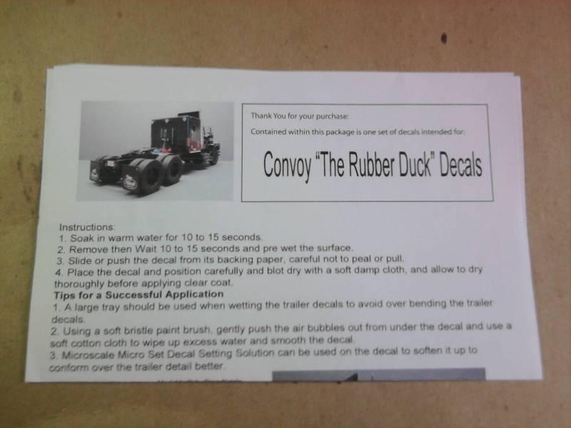 Convoy Rubber Duck 1:25 (AITM). 01_14