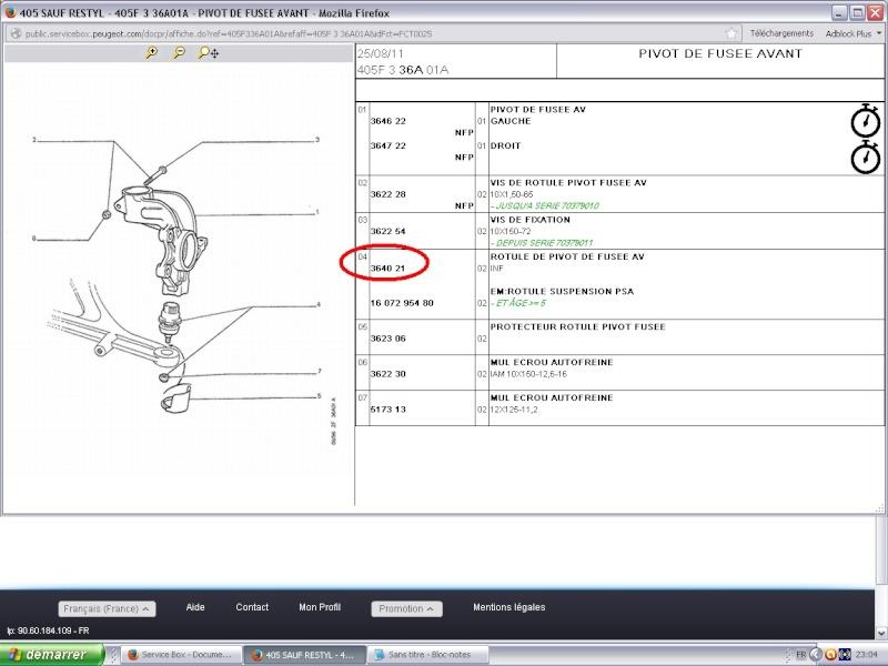 P'tit souci pour démonter une rotule AV D sur une 405GR 1.6 P1 Rotule10