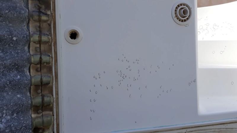 Réparation osmose sur Escawat et risques au démontage des flasques buses - turbojet -égalisation Osmose16