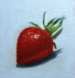 Painting #89: If the Color Red had a taste... Strawb11
