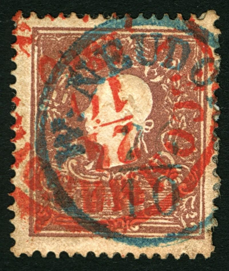 Die Freimarkenausgabe 1858 Type I und II 10_kr_14