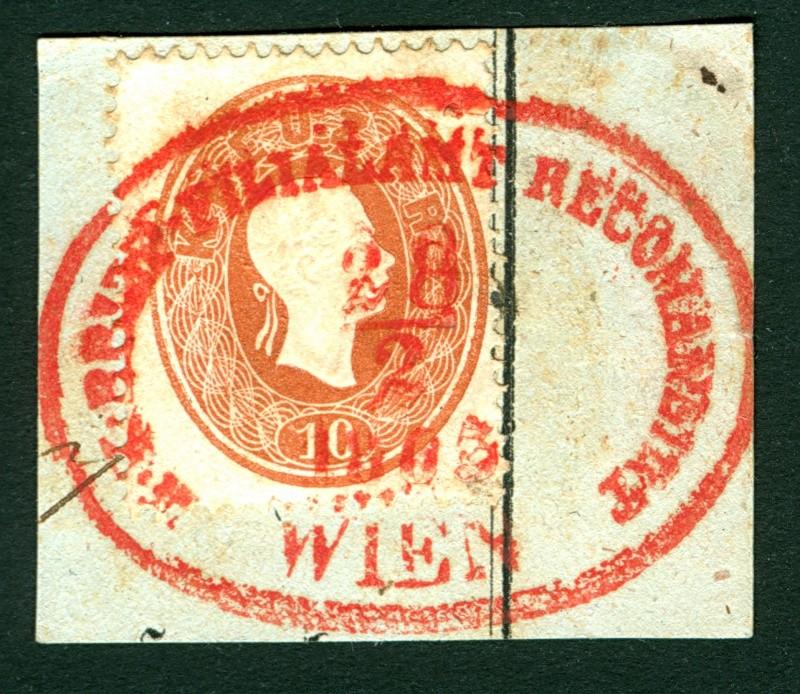 Die Freimarkenausgabe 1861 10_kr_16