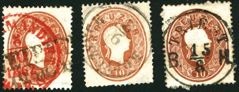 Die Freimarkenausgabe 1861 10_kr_18