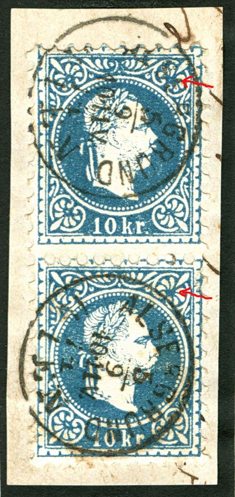 Freimarken-Ausgabe 1867 : Kopfbildnis Kaiser Franz Joseph I - Seite 5 10_kr_19