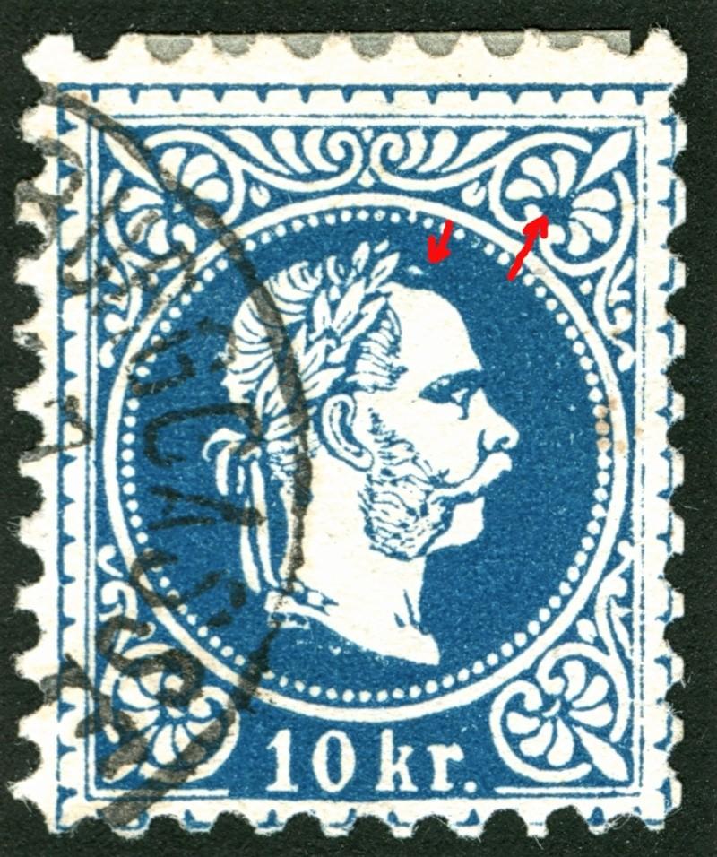 Freimarken-Ausgabe 1867 : Kopfbildnis Kaiser Franz Joseph I - Seite 5 10_kr_22