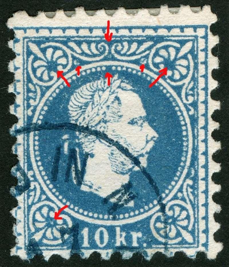 Freimarken-Ausgabe 1867 : Kopfbildnis Kaiser Franz Joseph I - Seite 5 10_kr_23