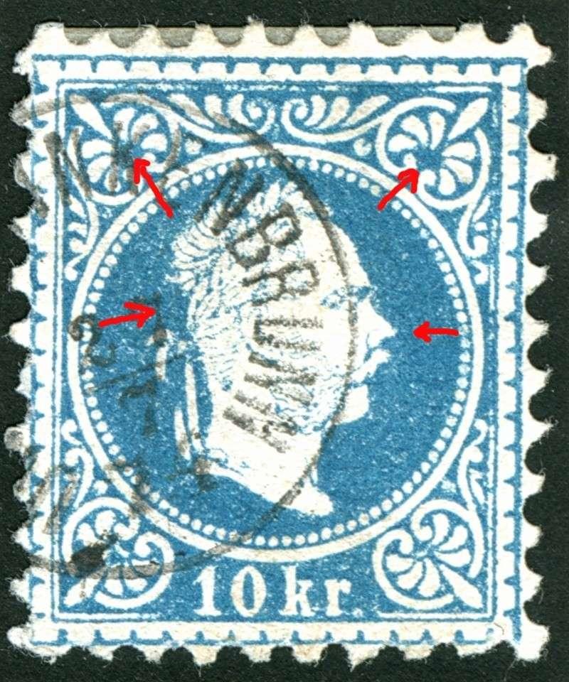 Freimarken-Ausgabe 1867 : Kopfbildnis Kaiser Franz Joseph I - Seite 5 10_kr_25