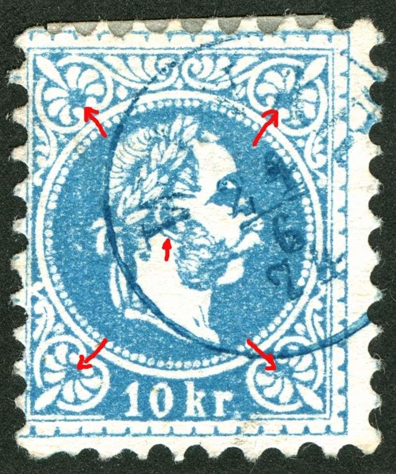 Freimarken-Ausgabe 1867 : Kopfbildnis Kaiser Franz Joseph I - Seite 5 10kr_a10