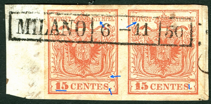 Lombardei - Venetien 1850 - 1858 15_cen10