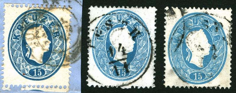 Die Freimarkenausgabe 1861 15_kr_11
