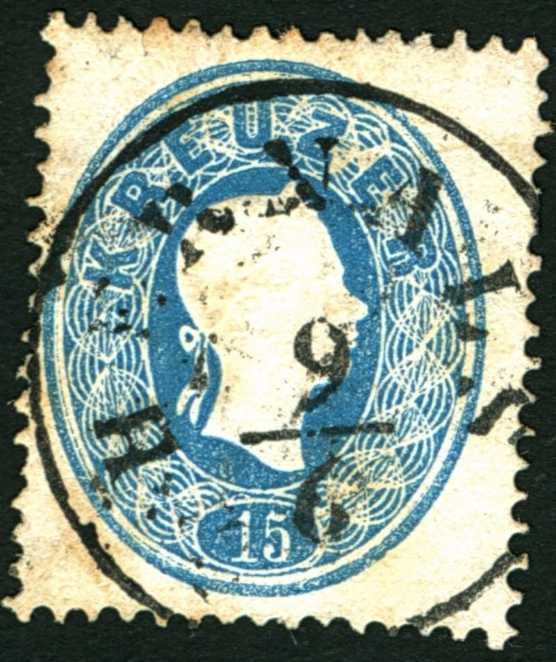 Die Freimarkenausgabe 1861 15_kr_12
