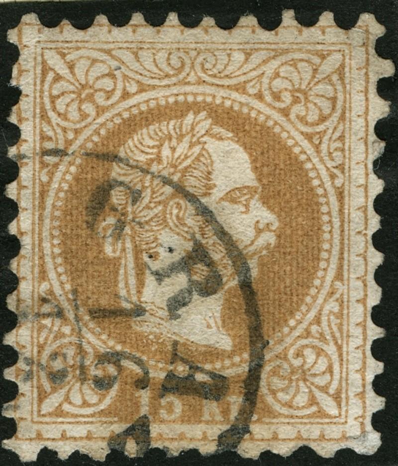 Freimarken-Ausgabe 1867 : Kopfbildnis Kaiser Franz Joseph I - Seite 5 15_kr_16