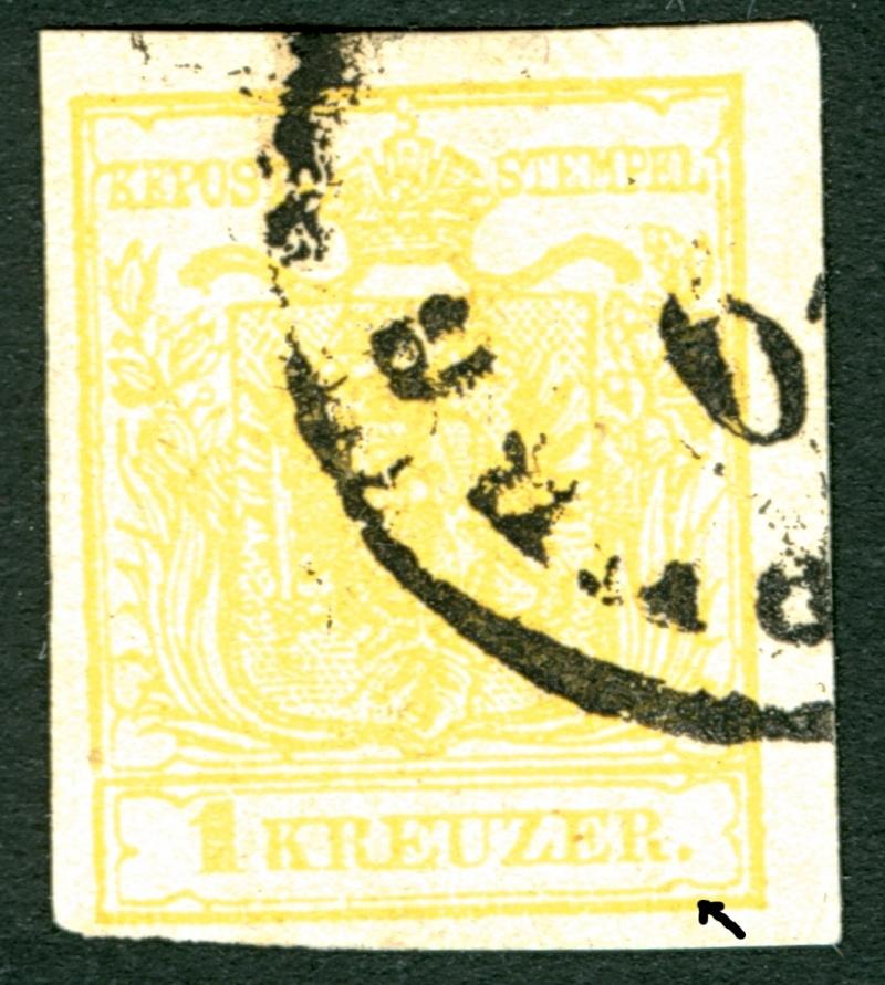 Die erste Österreichische Ausgabe 1850 1_kr_t12