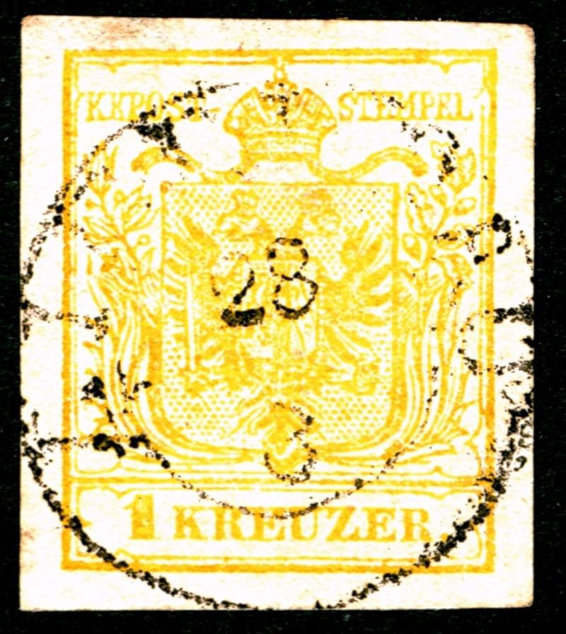 Die erste Österreichische Ausgabe 1850 1_kreu10