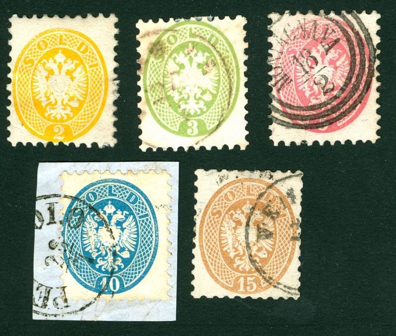 Lombardei-Venetien, Ausgaben 1863 und 1864 2-15_s10