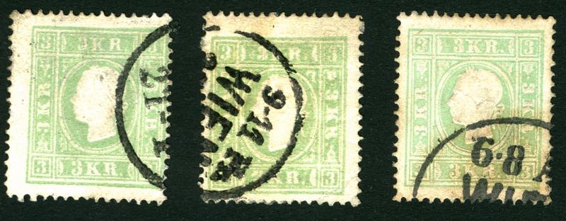 Die Freimarkenausgabe 1858 Type I und II 3_kr_113