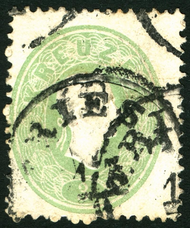 Die Freimarkenausgabe 1861 3_kr_114