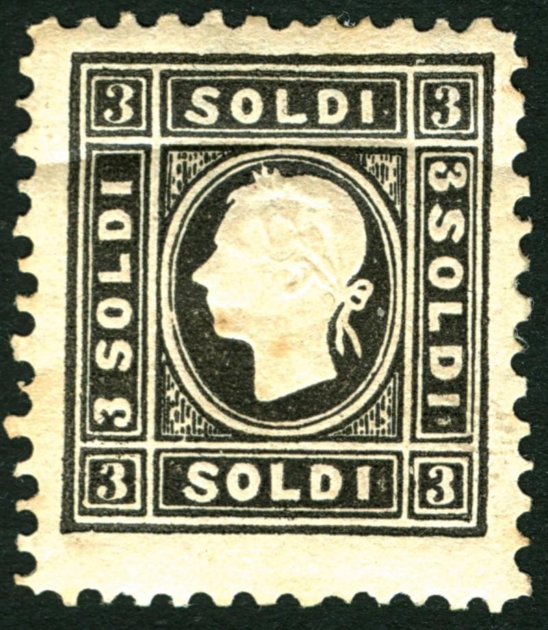 Lombardei-Venetien, Ausgabe 1858/62, 1859/62 3_sold10