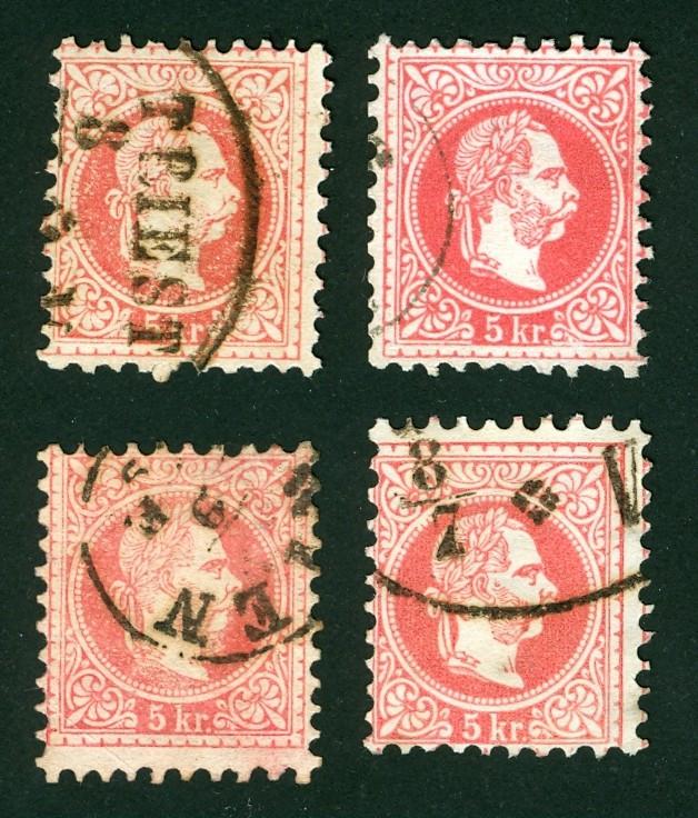 Freimarken-Ausgabe 1867 : Kopfbildnis Kaiser Franz Joseph I - Seite 4 4x5kr_10