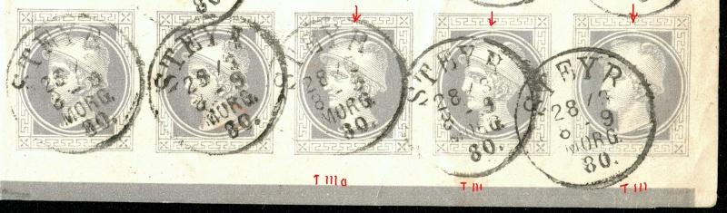 DIE ZEITUNGSMARKEN AUSGABE 1867 5-er_a10