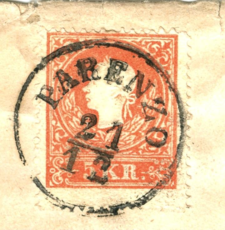 Die Freimarkenausgabe 1858 Type I und II 5_kr_111