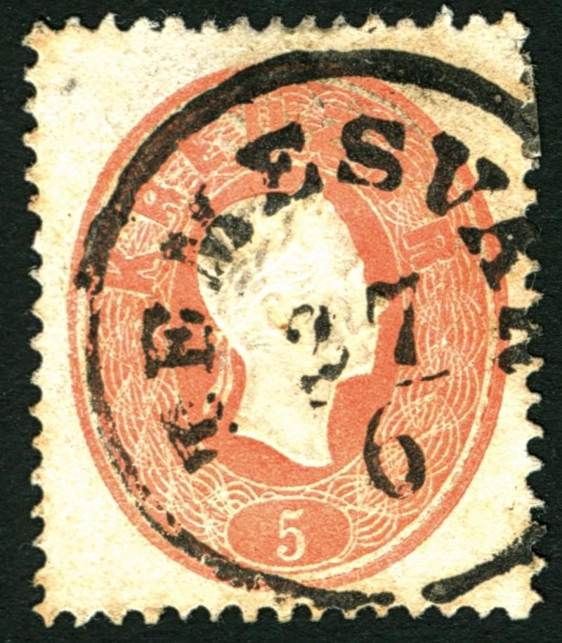 Die Freimarkenausgabe 1861 5_kr_113