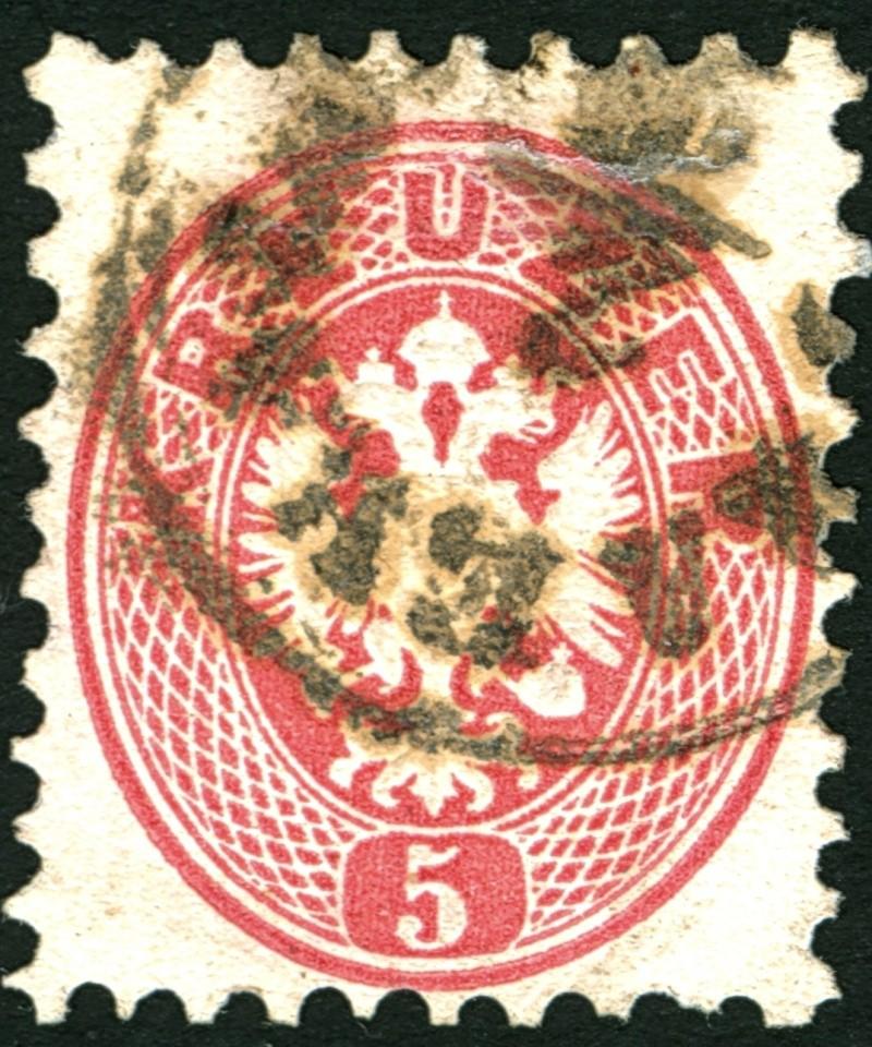 Die Freimarkenausgabe 1863/1864 5_kr_119