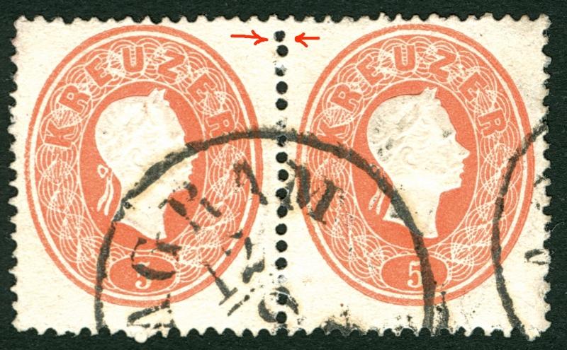 Die Freimarkenausgabe 1861 5_kr_p10