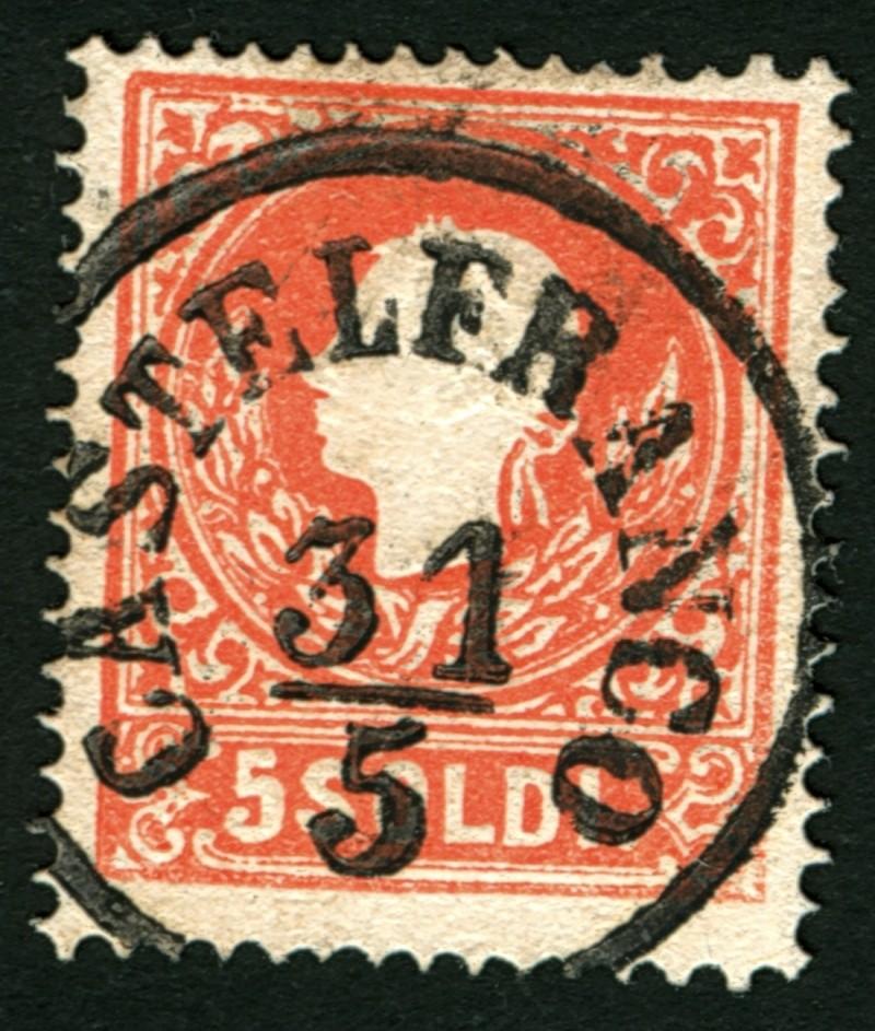 Lombardei-Venetien, Ausgabe 1858/62, 1859/62 5_sold12