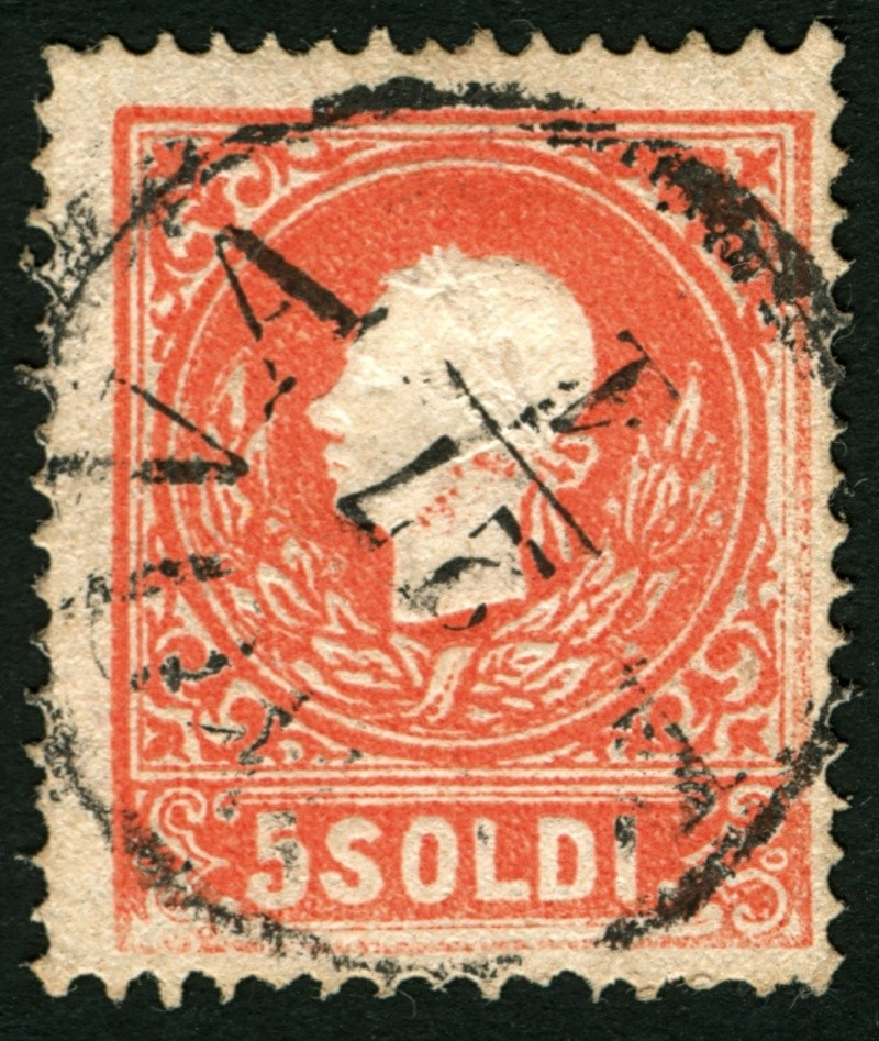 Lombardei-Venetien, Ausgabe 1858/62, 1859/62 5_sold14