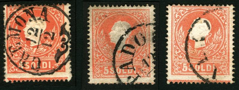 Lombardei-Venetien, Ausgabe 1858/62, 1859/62 5_sold17