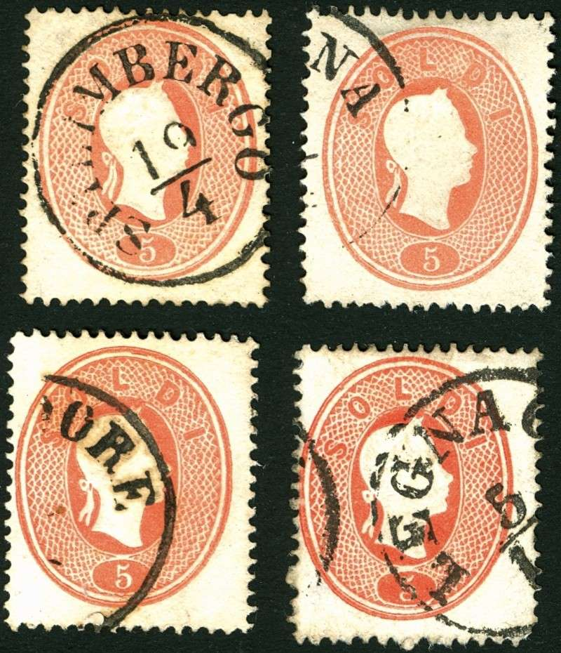 Lombardei-Venetien, Ausgabe 1861/62 5_sold20