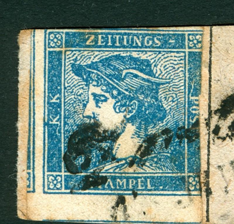 DIE ZEITUNGSMARKEN AUSGABE 1851 Blaue_10