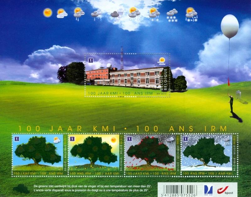 Neuheit Belgien : Temperaturempfindliche Briefmarken Blok_k10