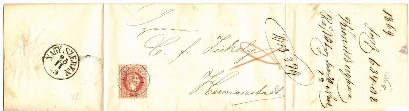 Freimarken-Ausgabe 1867 : Kopfbildnis Kaiser Franz Joseph I - Seite 3 Brief_11