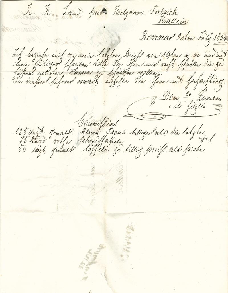 Die erste Österreichische Ausgabe 1850 Brief_16