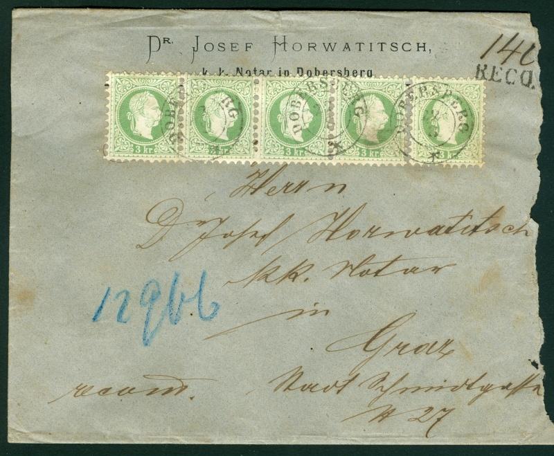 Freimarken-Ausgabe 1867 : Kopfbildnis Kaiser Franz Joseph I - Seite 3 Dobers10