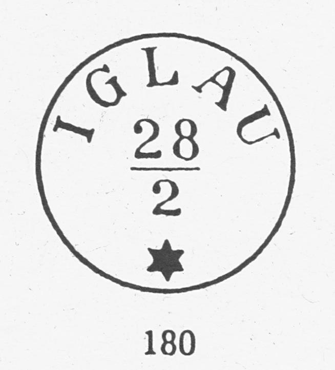 Freimarken-Ausgabe 1867 : Kopfbildnis Kaiser Franz Joseph I - Seite 5 Iglau110