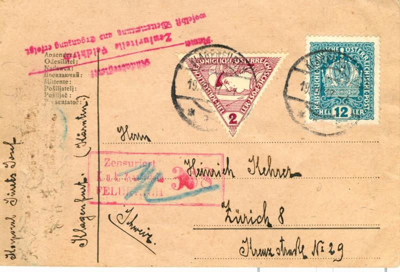 Karte Dez. 1917 in die Schweiz Karte_11